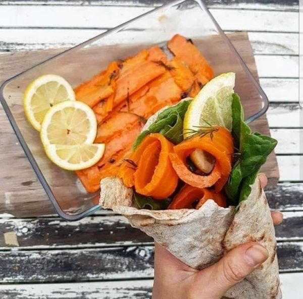 Fake Salmon Wrap